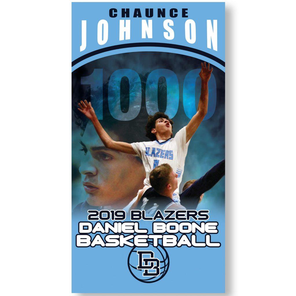 19x26 Daniel Boone Blazers Basketball banner design