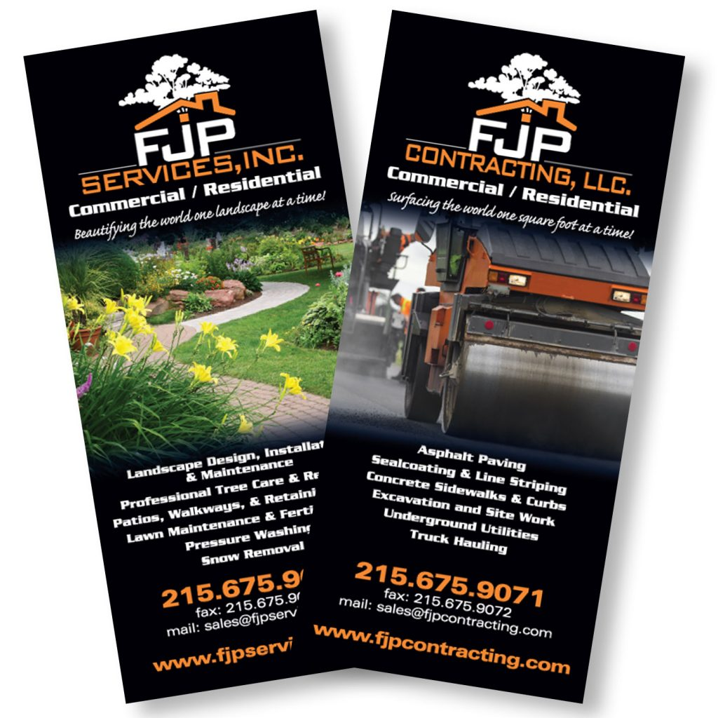 FJP Services rack card design