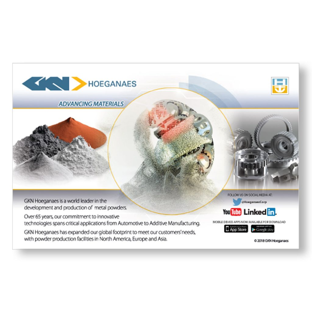 GKN Hoeganaes Advancing Materials half pg capability ad design