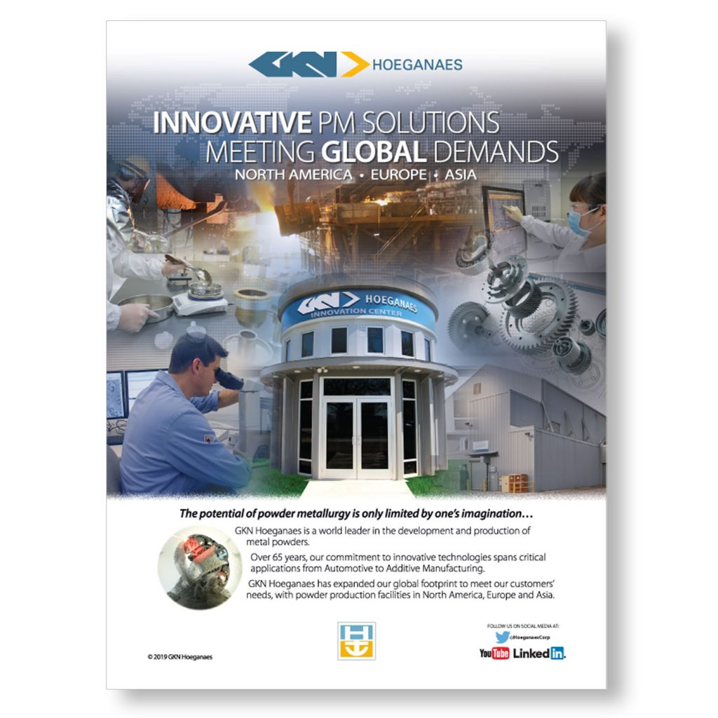 GKN Hoeganaes Innovation 1pg capability ad design