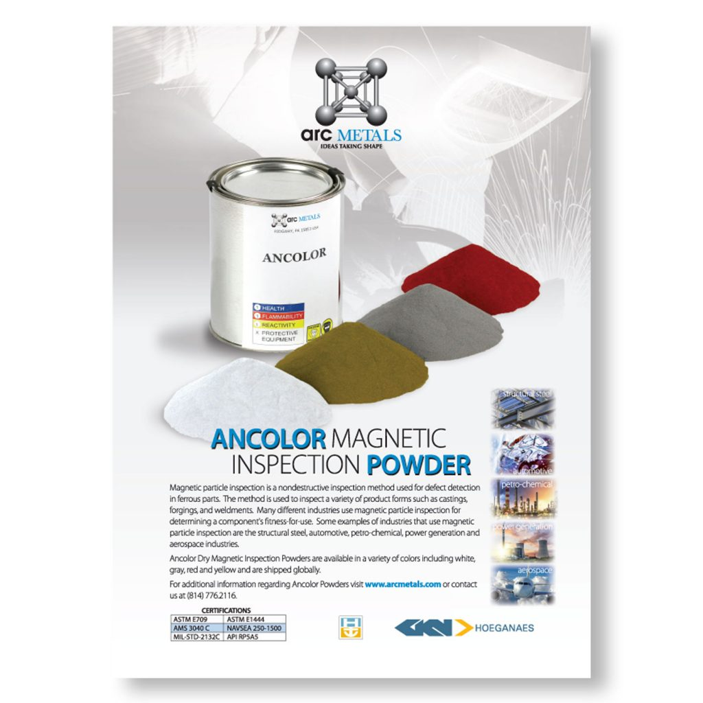 ARC Metals Ancolor Magnetic Powder 1pg product ad design