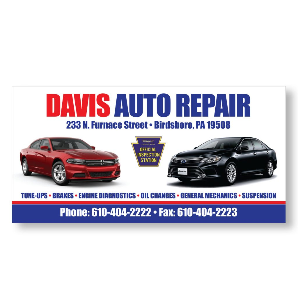 96x48 Davis Auto Repair building signage design