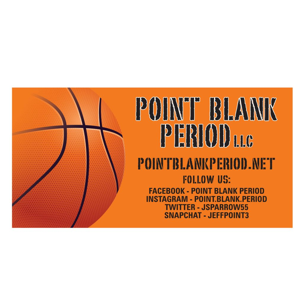96x48 Point Blank Period banner design