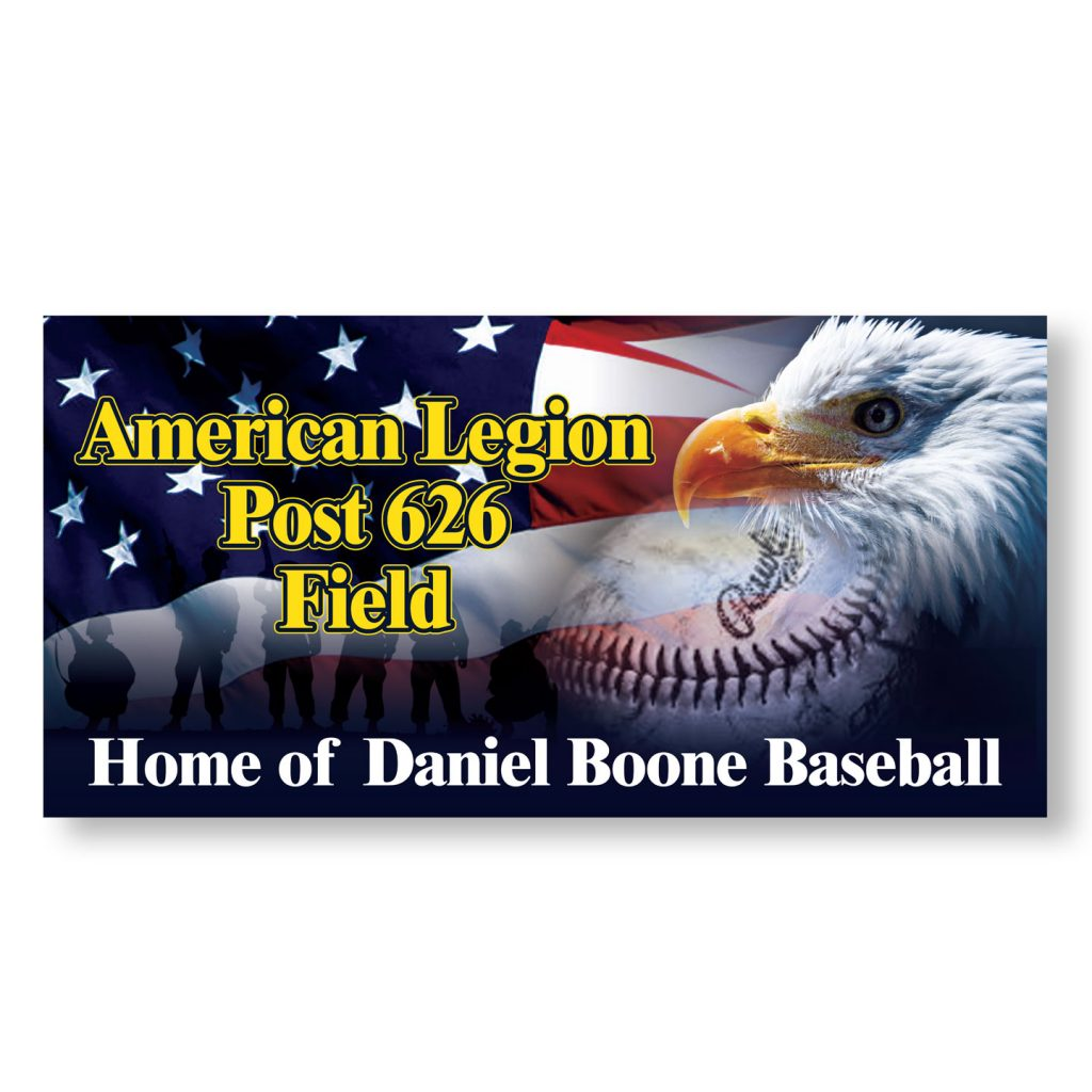 96x48 American Legion Post 626 banner design