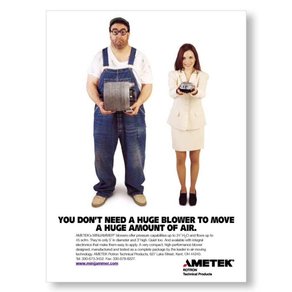 AMETEK Vacuum Motor 1 pg product ad design