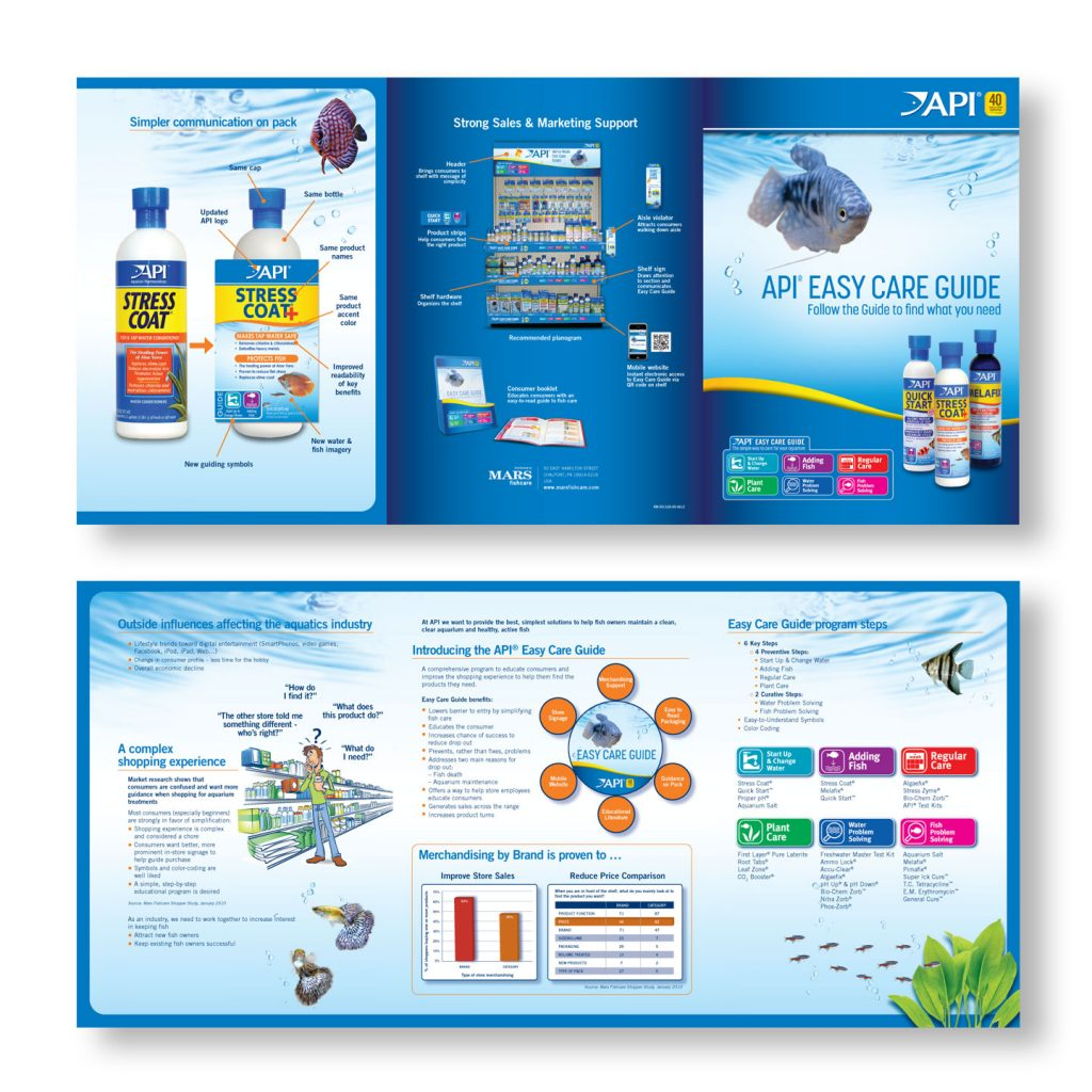 API trade brochure design