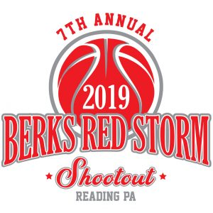 Berks Red Storm Basketball apparel logo design