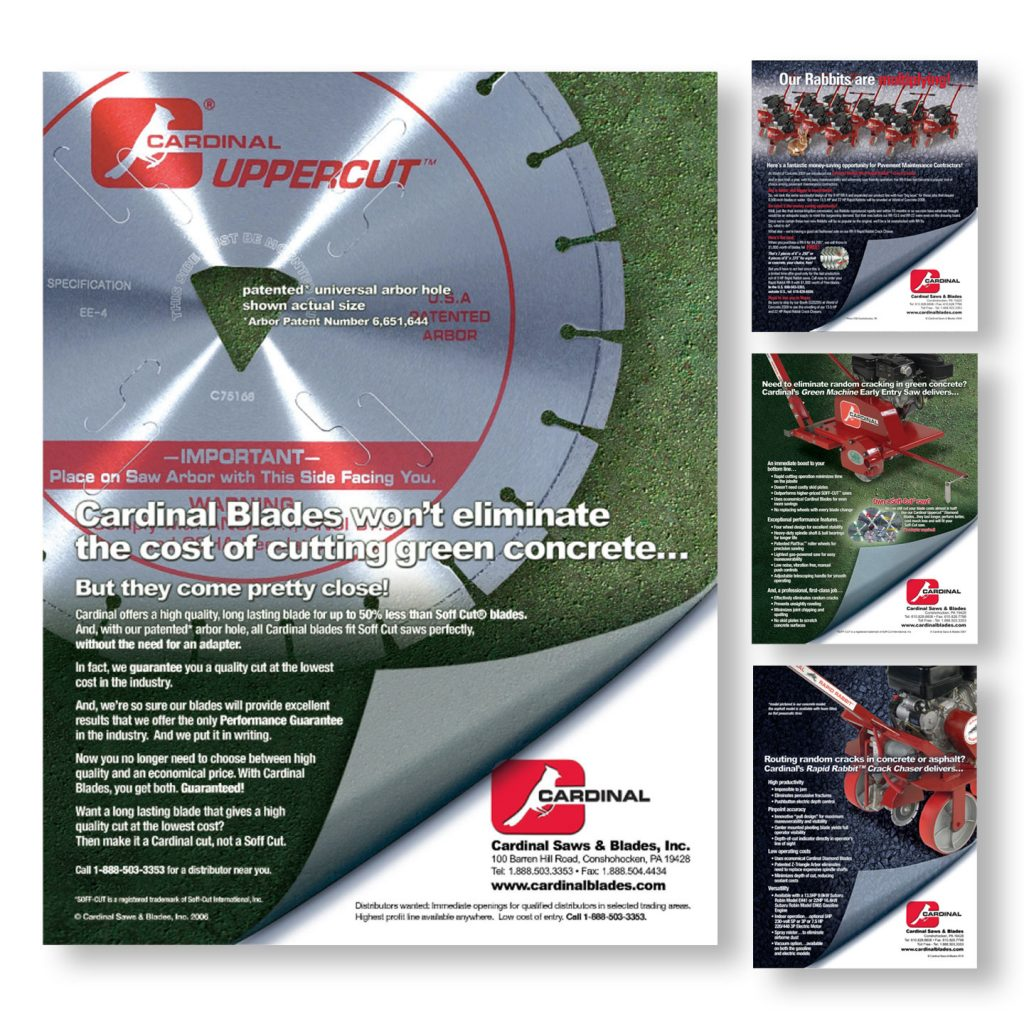 Cardinal Saws & Blades Inc product ad campaign design