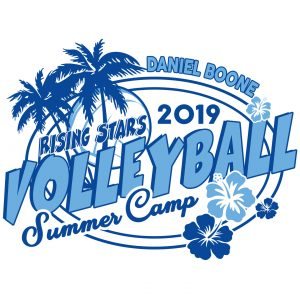 Daniel Boone Volleyball Summer Camp apparel logo design