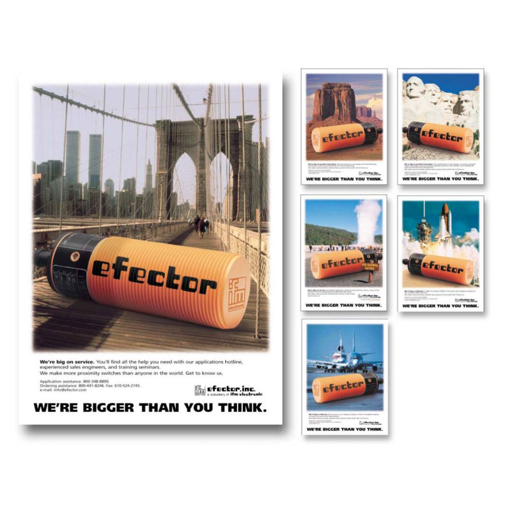 IFM Efector product awareness ad campaign design
