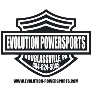 Evolution Powersports apparel logo design