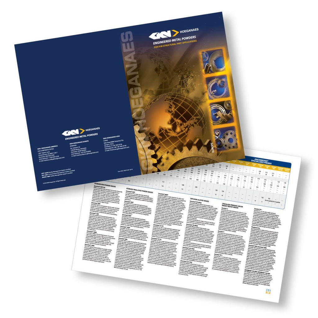 GKN Hoeganaes European line card design