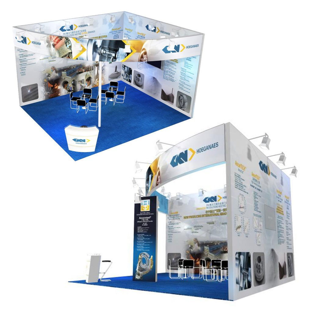 GKN Hoeganaes trade exhibit display graphics design