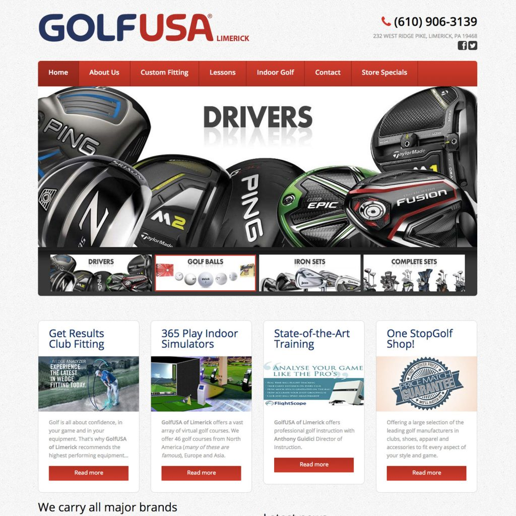 GolfUSA Limerick website design