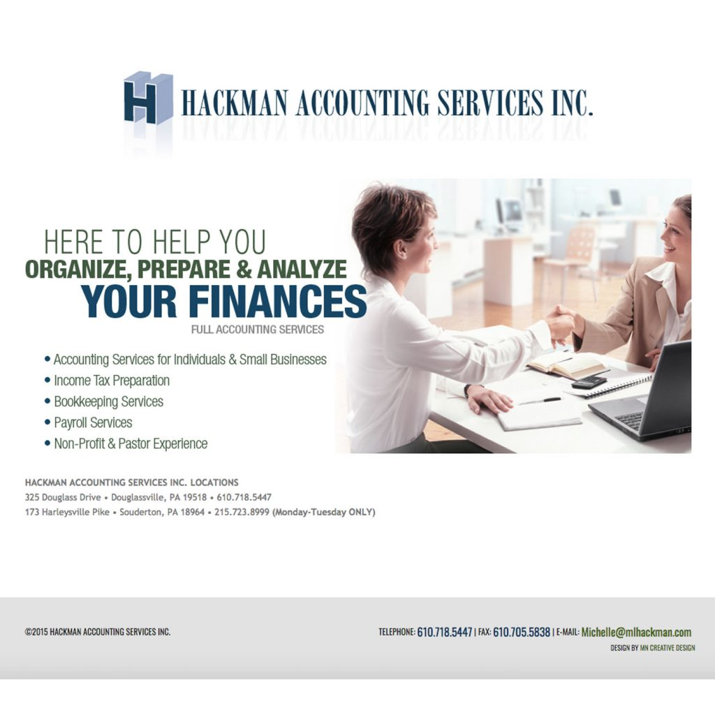 Hackman Accounting Services Inc. website landing page design