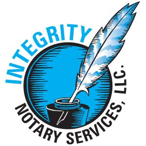 Integrity Notary Services, LLC. brand logo design