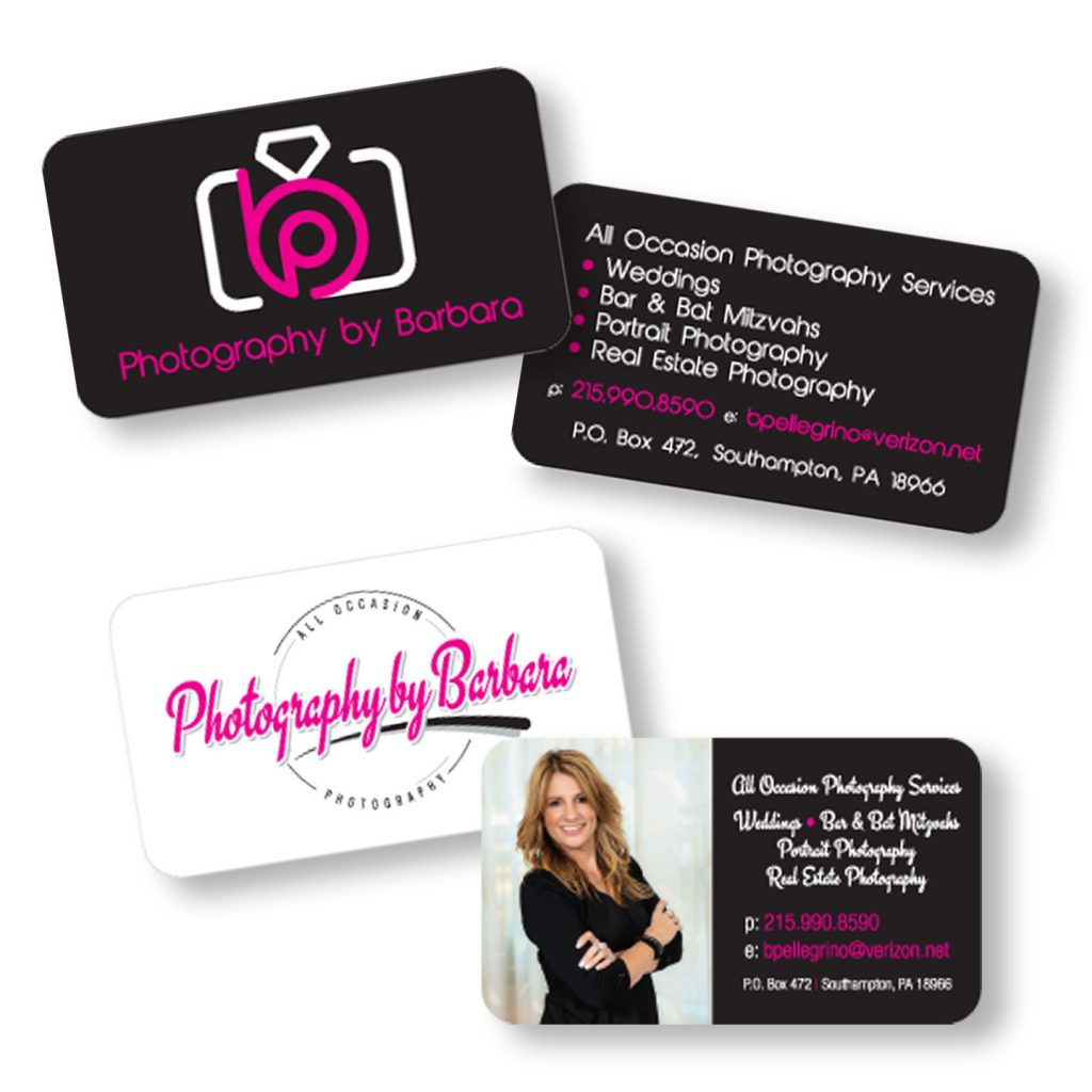 Photography By Barbara business card design