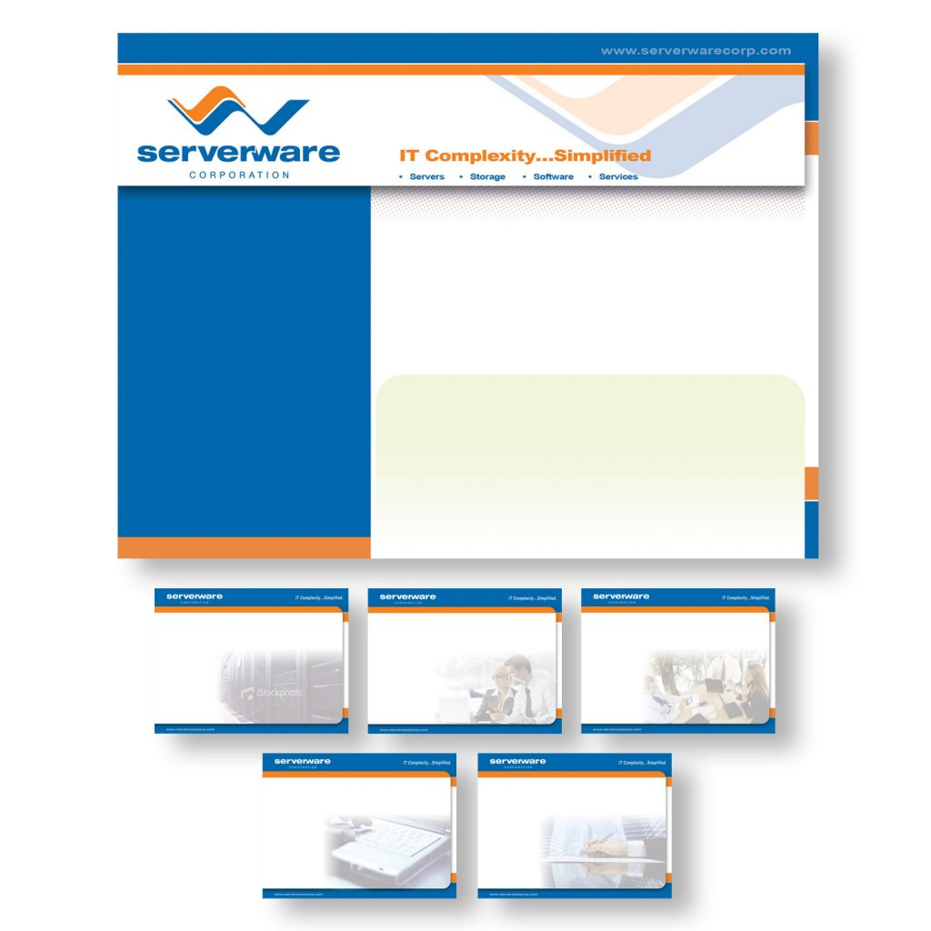 Serverware Corporation Powerpoint Presentation template design