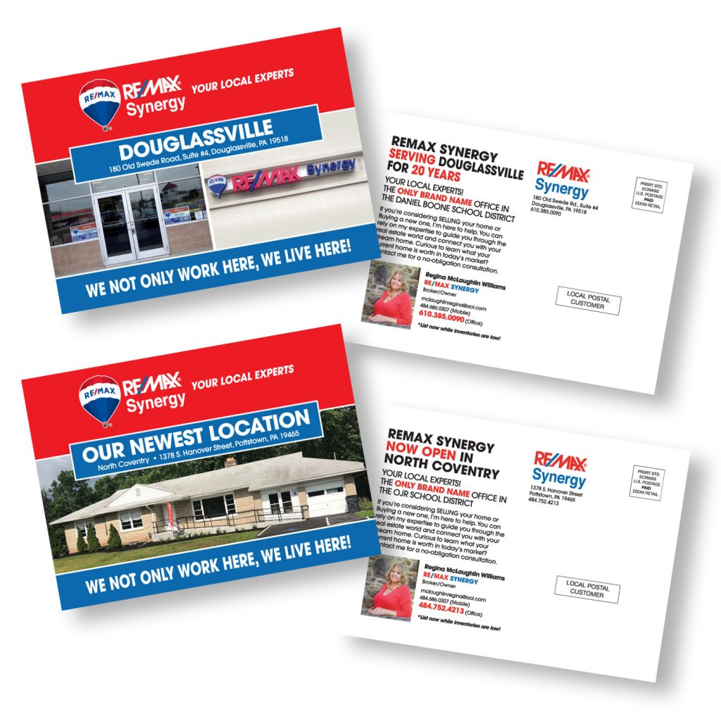 RE/MAX Synergy Direct Mail postcard design