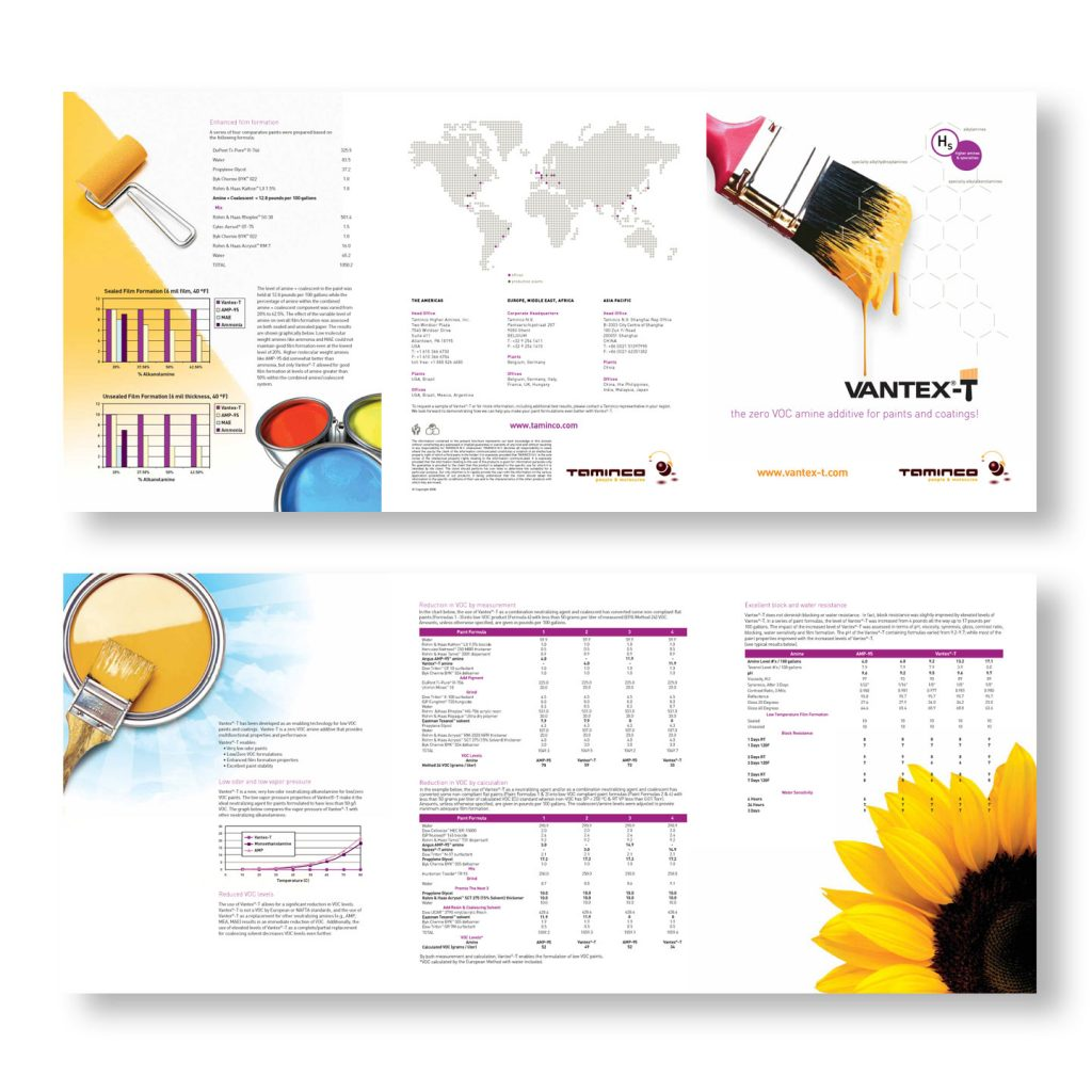 VantexT Trifold product brochure
