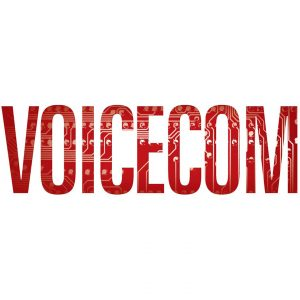 Voicecom Telecommunications logo design