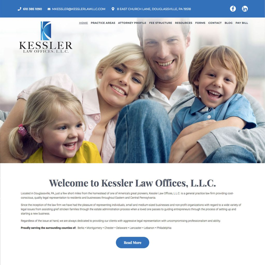 Kessler Law Offices L.L.C. website design